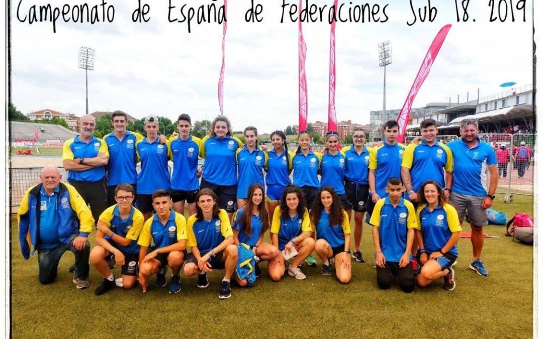 Resultados Campeonato de España de Federaciones Autonómicas Sub-18.